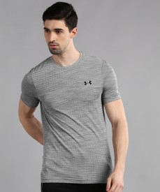 UNDER ARMOUR x PROJECT ROCK NEVER FULL MENS S Small Beige//Light Tan T-SHIRT