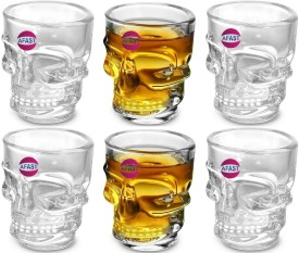 Red Dog Beer Logo on Clear Shot Glass