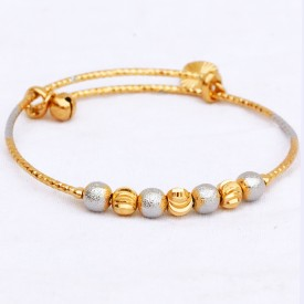 The Trendy Trendz Traditional Wedding Gold Plated Multi Color Beads Bangles Bracelets Set for Women