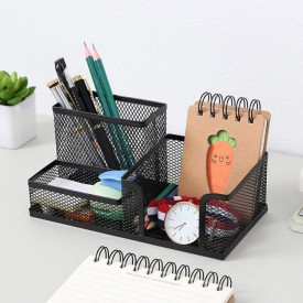 Office Desk Accessories Computer Monitor Holder Stationery Pens Storage Box SH