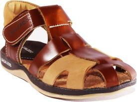 Calzado Boys Sling Back Strappy Sandals(Brown)