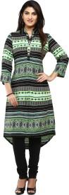 Aaboli Printed Women's Straight Kurta(Green)