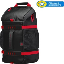 HP 15.6 inch Laptop Backpack(Black, Red)