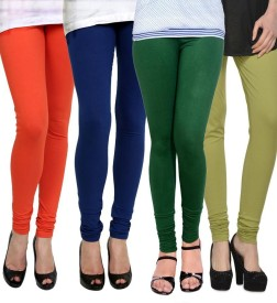 Dimpy Garments Women's Multicolor Leggings(Pack of 4)