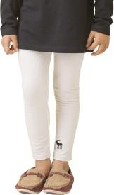 Bluebuck Girl's White Leggings