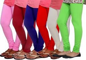 Tullis Women's Multicolor Leggings(Pack of 6)
