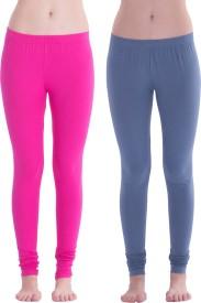 Spictex Girl's Pink, Dark Blue Leggings