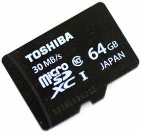 Toshiba 64GB MicroSDXC Class 10 (30MB/s) UHS-1 Memory Card