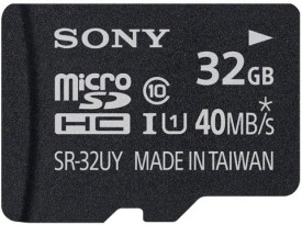 Sony 32GB MicroSDHC Class 10 (40MB/s) Memory Card (With Adapter)