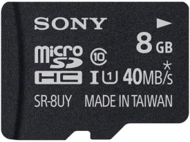 Sony 8GB MicroSDHC Class 10 (40MB/s) Memory Card