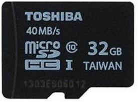 Toshiba 32GB MicroSDHC Class 10 (40MB/s) Memory Card