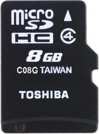 Toshiba 8GB MicroSDHC Class 4 Memory Card