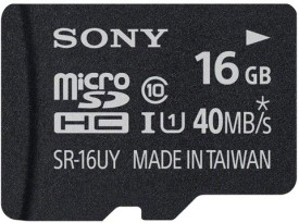 Sony 16GB MicroSDHC Class 10 (40MB/s) Memory Card (With Adapter)