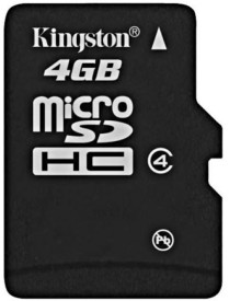 Kingston 4GB MicroSDHC Class 4 (4MB/s) Memory Card