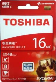 Toshiba Exceria 16GB MicroSDHC Class 10 (48MB/s) Memory Card
