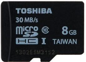 Toshiba 8GB MicroSDHC Class10 (30MB/s) Memory Card