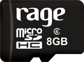 Rage 8GB Class 6 MicroSDHC Memory Card