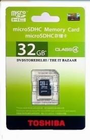 Toshiba 32GB (Class 4) Micro SD Memory Card