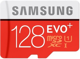 Samsung EVO Plus 128GB MicroSDXC Class 10 (80MB/s) Memory Card (With Adapter)