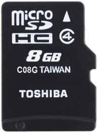 Toshiba 8GB MicroSDHC Class 4 (15MB/s) Memory Card