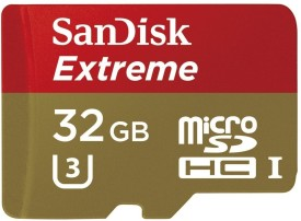 SanDisk Extreme 32GB MicroSDHC Class 10 (60MB/s) UHS-I/U3 Memory Card