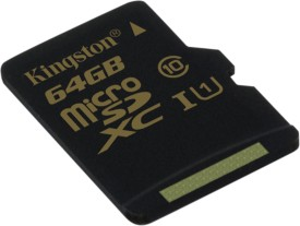 Kingston 64GB MicroSDXC Class 10 (10MB/s) Memory Card