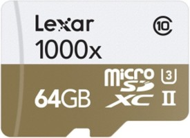 Lexar Professional 1000x 64GB MicroSDXC UHS-II Class 10 (150MB/s) Memory Card