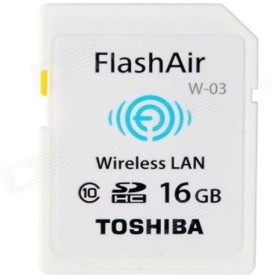 Toshiba FlashAir SDHC Class 10 16GB Wireless SD Card
