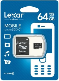 Lexar 64GB MicroSDXC Class 10 Memory Card (With Adapter)