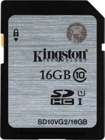 Kingston SD10VG2/16GBFR 16GB SDHC UHS-I 80MB/s Class10 Memory Card