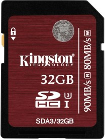 Kingston SDA3/32GB 32GB SDHC Class 3 UHS-I 90MB/s Memory Card