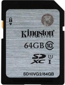 Kingston 64GB Class 10 SDXC Memory Card