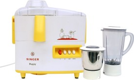 Singer Peppy DX 500W Juicer Mixer Grinder (2 Jars)