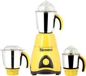 Sunmeet Techno 600W Mixer Grinder (3 Jars)
