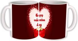PhotogiftsIndia Happy Valentine Day With Gift Ceramic Mug