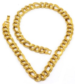 Saizen CH086 Series 1 Collection 22K Yellow Gold Plated Stainless Steel Chain