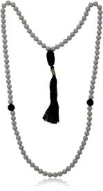 Mahi Grey Tasbih with 99 Beads Swarovski Crystal Alloy Necklace