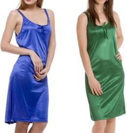 Bacchus Women's Nighty(Blue, Green)