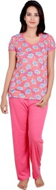 Kanika Women's Floral Print Top & Pyjama Set