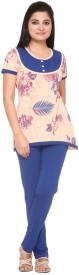 In Love Women's Printed Multicolor Top & Pyjama Set