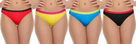 Selfcare Women's Bikini Multicolor Panty(Pack of 4)