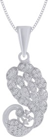 Jewelscart.in Coral Rhodium Alloy Pendant