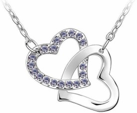 Cinderella Fashion Jewelry Heart in Heart Crystal Pendant