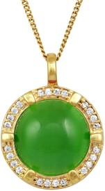 Exxotic Jewelz Royal Statement Piece 24K Yellow Gold Agate Brass Pendant