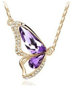 Cinderella Fashion Jewelry Butterfly Crystal Pendant