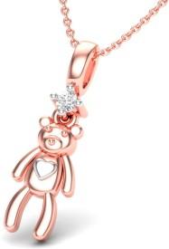 Theme Jewels LPT-0153-14KP 14kt Diamond Rose Gold Pendant