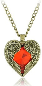 Cinderella Fashion Jewelry Red Heart Alloy Pendant