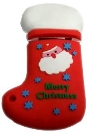 Microware Santa Claus Christmas Stockings Shape 4 GB Pen Drive