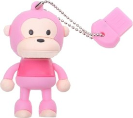 Microware 16GB Monkey Pink Color Shape Pen Drive