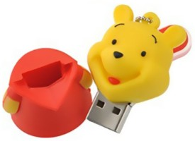 Microware 16GB Lovely Winnie The Pooh Shape Pen Drive